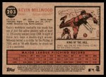 2011 Topps Heritage #203  Kevin Millwood  Back Thumbnail