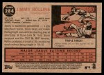 2011 Topps Heritage #284  Jimmy Rollins  Back Thumbnail