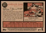2011 Topps Heritage #341  Lorenzo Cain  Back Thumbnail