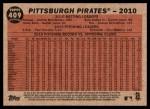 2011 Topps Heritage #409   Pirates Team Back Thumbnail