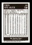 1991 Conlon #44  Tris Speaker  Back Thumbnail