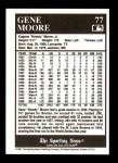 1991 Conlon #77  Gene Moore  Back Thumbnail