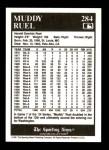 1991 Conlon #284  Muddy Ruel  Back Thumbnail