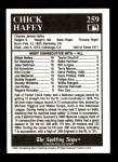 1991 Conlon #259   -  Chick Hafey All-Time Leaders Back Thumbnail
