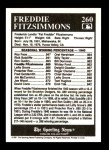 1991 Conlon #260   -  Fred Fitzsimmons All-Time Leaders Back Thumbnail