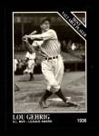 1991 Conlon #310   -  Lou Gehrig Most Valuable Player Front Thumbnail