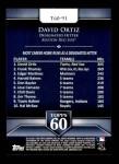 2011 Topps 60 #91 T-60 David Ortiz  Back Thumbnail