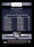 2011 Topps 60 #127 T-60 Duke Snider  Back Thumbnail