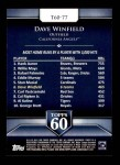 2011 Topps 60 #77 T-60 Dave Winfield  Back Thumbnail