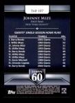2011 Topps 60 #107 T-60 Johnny Mize  Back Thumbnail