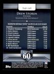 2011 Topps 60 #149 T-60 Drew Storen  Back Thumbnail