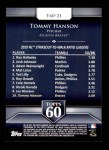 2011 Topps 60 #21 T-60 Tommy Hanson  Back Thumbnail