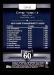 2011 Topps 60 #27 T-60 David Wright  Back Thumbnail
