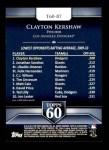 2011 Topps 60 #87 T-60 Clayton Kershaw  Back Thumbnail