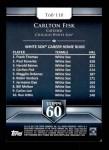 2011 Topps 60 #110 T-60 Carlton Fisk  Back Thumbnail