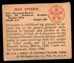 1950 Bowman #8  Mac Speedie  Back Thumbnail