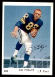 1959 Rams Bell Brand #32  Jim Phillips  Front Thumbnail