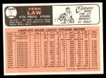 1966 Topps #15  Vern Law  Back Thumbnail