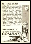 1964 Donruss Combat #60   Real Soldier Back Thumbnail