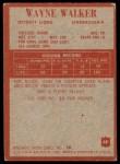 1965 Philadelphia #68  Wayne Walker   Back Thumbnail