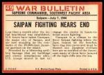 1965 Philadelphia War Bulletin #49   Flush them Out! Back Thumbnail