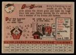 1958 Topps #98 WN Billy Hunter  Back Thumbnail