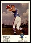 1961 Fleer #166  George Blanda  Front Thumbnail