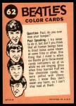 1964 Topps Beatles Color #62   The Beatles Arrive Back Thumbnail