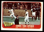 1965 Topps #132   -  Mike Shannon / Whitey Ford / Elston Howard 1964 World Series - Game #1 - Cards Take Opener Front Thumbnail