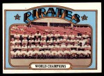 1972 Topps #1   Pirates Team Front Thumbnail