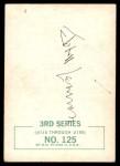 1964 Topps Beatles Black and White #125  John Lennon  Back Thumbnail