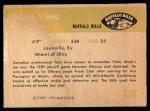 1961 Fleer #138  Mack Yoho  Back Thumbnail