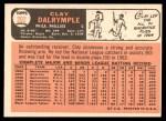 1966 Topps #202  Clay Dalrymple  Back Thumbnail