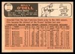 1966 Topps #237  Billy O'Dell  Back Thumbnail