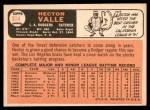 1966 Topps #314  Hector Valle  Back Thumbnail