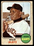 1968 Topps #50  Willie Mays  Front Thumbnail
