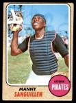 1968 Topps #251  Manny Sanguillen  Front Thumbnail