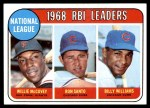 1969 Topps #4   -  Willie McCovey / Ron Santo / Billy Williams NL RBI Leaders Front Thumbnail