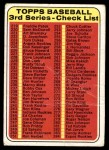 1969 Topps #214   Checklist 3 Front Thumbnail