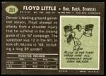 1969 Topps #251  Floyd Little  Back Thumbnail