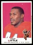 1969 Topps #251  Floyd Little  Front Thumbnail