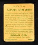 1933 Goudey Indian Gum #70  Captain John Smith   Back Thumbnail