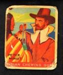 1933 Goudey Indian Gum #72  Peter Minuit   Front Thumbnail
