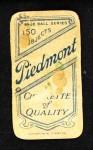 1909 T206 POR Walter Johnson  Back Thumbnail