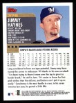 2000 Topps #376  Jimmy Haynes  Back Thumbnail