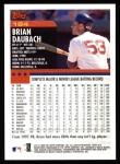 2000 Topps #184  Brian Daubach  Back Thumbnail
