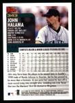 2000 Topps #343  John Halama  Back Thumbnail