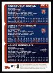 2000 Topps #207   -  Lance Berkman / Corey Patterson / Roosevelt Brown Prospects Back Thumbnail