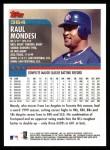 2000 Topps #364  Raul Mondesi  Back Thumbnail