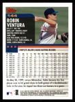 2000 Topps #144  Robin Ventura  Back Thumbnail